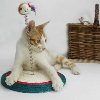 Print Cat Toy Cat House Swinging the Ball Cat Furniture&Scratchers Cat Tree Scratch Toy For Pet Kitten Jumping - intl