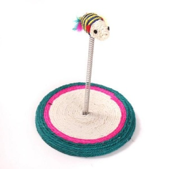 Print Cat Toy Cat House Swinging the Ball Cat Furniture&Scratchers Cat Tree Scratch Toy For Pet Kitten Jumping - intl - 2