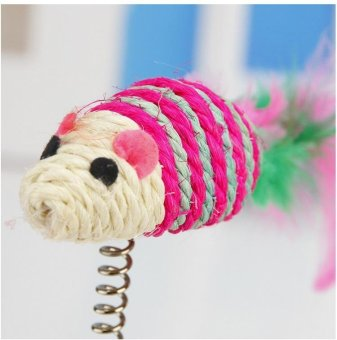 Print Cat Toy Cat House Swinging the Ball Cat Furniture&Scratchers Cat Tree Scratch Toy For Pet Kitten Jumping - intl - 3