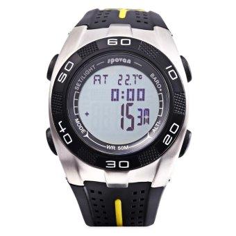 S&L SPOVAN Blade 5 Digital Sports Watch Weather Forecast Altimeter Thermometer 5ATM Wristwatch (Black) - intl - 5