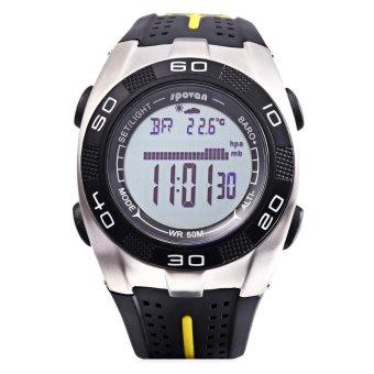 S&L SPOVAN Blade 5 Digital Sports Watch Weather Forecast Altimeter Thermometer 5ATM Wristwatch (Black) - intl - 4