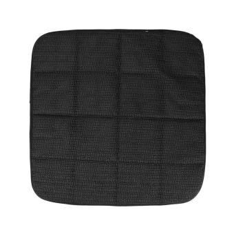 42cm*42cm Bamboo Charcoal Breathable Car Seat Cushion Cover Chair Mat Black - 2