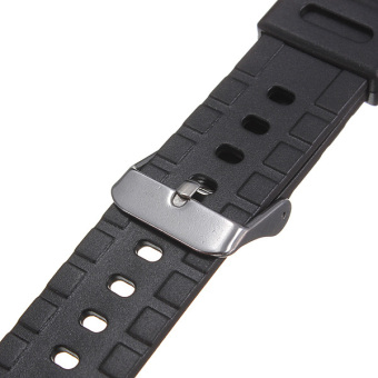 18mm Military Men Black Silicone Rubber Replacement Sport Wrist Watch Band Strap(EXPORT) - 2