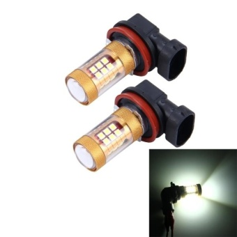 Harga 2 PCS H8/H11 15W 1300 LM 6500K 28 SMD-3030 LEDs Car Fog Lights, DC 12V(White Light) - intl