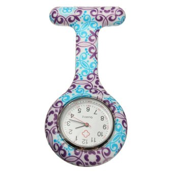 Harga Nurse Fob Brooches Flower Silicone Pocket Watch(Export)(INTL)