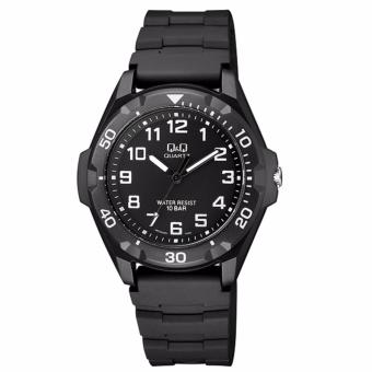 Harga Q&Q VR70J001Y By Citizen Black Resin Black Dial Analog Sport Round Watch