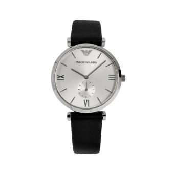Harga Emporio Armani Watch Classic Black Stainless-Steel Case Leather Strap Mens NWT + Warranty AR1674