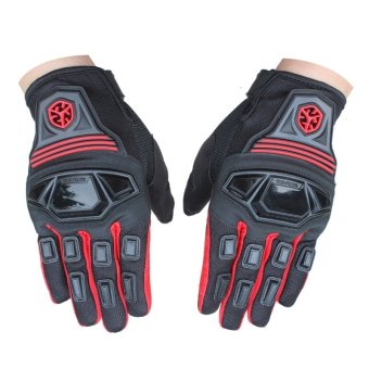 Harga Scoyco MC24 Motorcycle Full Finger Scooter Protective Gloves Red(Export)
