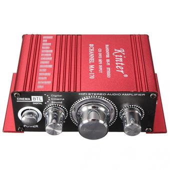Harga Mini 2CH Hi-Fi Stereo Amplifier for Car Motorcycle Home (Red) - intl