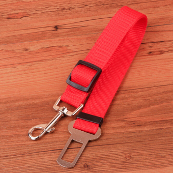 Harga A dog retractable seat belt pet car seat belt(red)