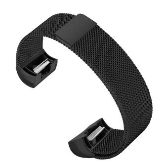 Harga Fashion Portable Replacement Widening Watchband Stainless Steel Strong Magnetism Clasp Smart Bracelet Strap Accessory for Fitbit Charge 2 Model Watch Band Black - intl