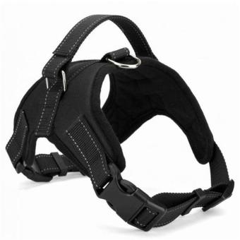 Harga Big Dog Soft Harness Adjustable Pet Dog Big Exit Harness Vest Collar Strap for Small and Large Dogs Pitbulls - Black(XL) - intl