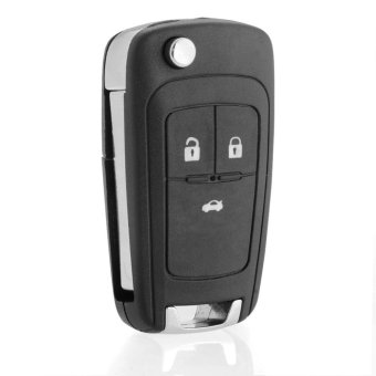 Harga 3 Button Remote Folding Fob Key Shell Cover Holder for Chevrolet Cruze