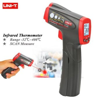Harga UNI-T UT300S Non-Contact Infrared Thermometer (Grey+Red) - intl