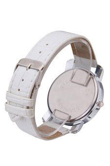 Womage Women's White Leather Strap Watch 9346 - 5