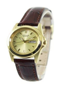 Harga Citizen Quartz Women's Brown Leather Strap Watch EQ0562-03P