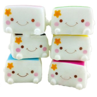 Harga Buytra Cute Soft Chinese Squishies Tofu Expression Smile Face Cell Phone Keychain