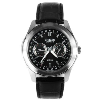 Harga Citizen Eco-Drive Analog Leather Men's Watch AG0160-02H