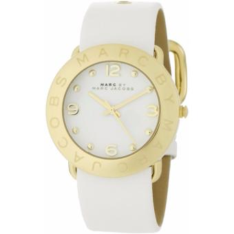 Harga Marc By Marc Jacobs Ladies' Amy White Leather Watch MBM1150
