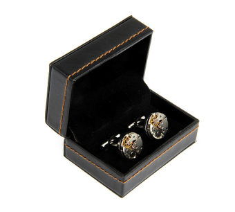 Harga Mounted a pair of black leather/four pair cufflinks cufflinks box box box box (excluding cufflinks) 110006