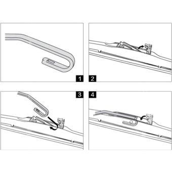 New Soft Universal Frameless Rubber Car Windshield Wiper Blade 18 Inch - 5
