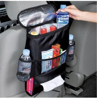 Harga Car Back Seat Organizer/Auto Seat /Multi-Pocket Travel Storage Bag/Insulated Car Seat Back Drinks Holder Cooler /Storage Bag Cool Wrap Bottle Bag/Mesh Pockets(Heat-Preservation) Black - intl