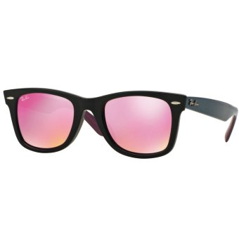 Harga Ray-Ban Sunglasses Wayfarer RB2140F - Black (11744T) Size 52 Green Mirror Fuxia