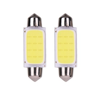 Harga 2pcs 41mm COB SMD LED 12V Car Reading Bulb Map Light (white light) - intl