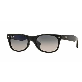 Harga Ray-Ban Sunglasses New Wayfarer (F) RB2132F - Black Rubber (622) Size 55 Crystal Green