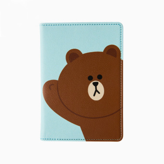 Harga Korea explosion models Line Brown Bear can Ni rabbit Sally chicken passport clip Documents folder passport cover