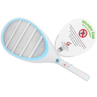 Harga Wonder Zap Electric Bug Zapper Mosquito Bite Fly Swatter for Indoor & Outdoor Zika Virus Control Portable Light Durable ABS Plastic and Battery Operated with LED Handheld Tennis Racket Shaped for Easy Swing