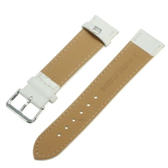 Spare PU Leather Watch Band Strap for Samsung Galaxy Gear S2 Classic BSM-R732 White 20mm - 5