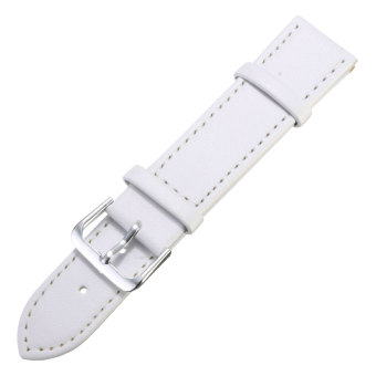 Spare PU Leather Watch Band Strap for Samsung Galaxy Gear S2 Classic BSM-R732 White 20mm - 2