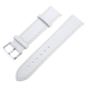 Spare PU Leather Watch Band Strap for Samsung Galaxy Gear S2 Classic BSM-R732 White 20mm - 3