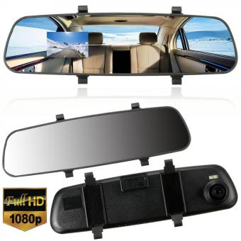 Harga 2.7 Inch 1080P LCD HD Car Camera Dash Cam Video Recorder Rear View Mirror Vehicle DVR