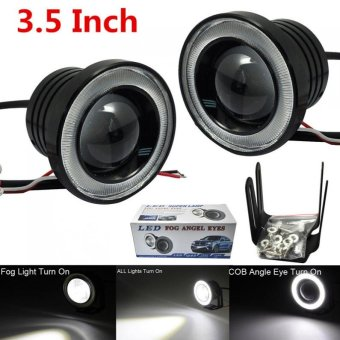 "Harga 2Pcs 3.5"" 20W Car COB LED Angel Eye Fog Lamps - Intl"