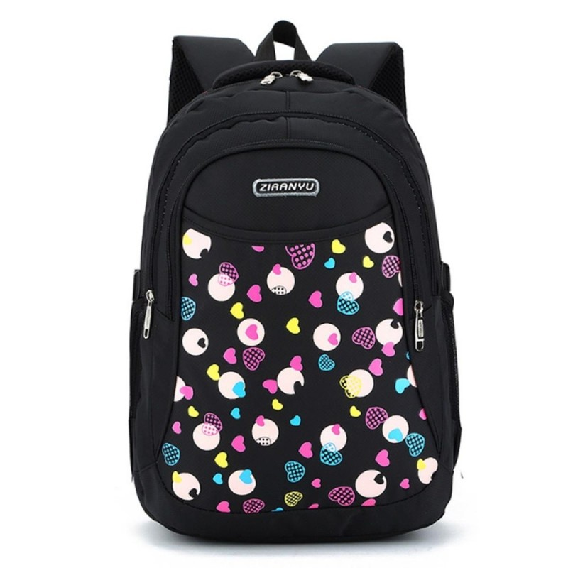 Kids Boys Girls Large School Bags Backpack Shoulder Bookbags Fashion Rucksack Black - intl