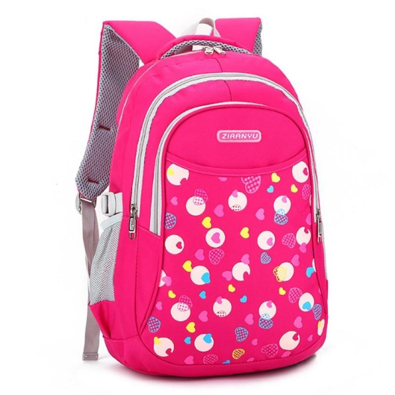 Kids Boys Girls Large School Bags Backpack Shoulder Bookbags Fashion Rucksack Rose - intl