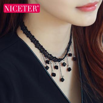 Korean lace short paragraph tassel necklace Ms. decorative neck jewelry neck strap wild simple clavicle chain necklace