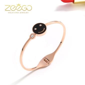 Korean-style simple student wild smiley opening bracelet Japan and South Korea jewelry bracelet rose gold bracelet female can be lettering