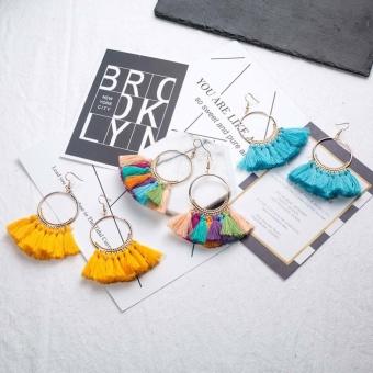 Kuhong Vintage Female Temperament Fashion Tassel Earrings - intl - 3