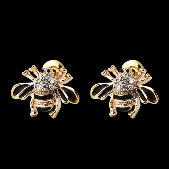 LINGLADY Korean-style crystal textured ear acupuncture earrings