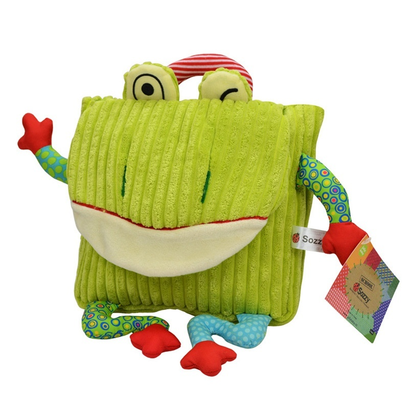 Lovely Stuffed Animal Toy Cartoon Backpack Size:25*20cm - intl