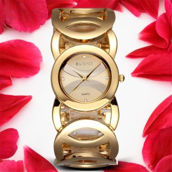 Luxury Dress Brand Fashion Watch Woman Ladies Gold Diamond DressClock - intl