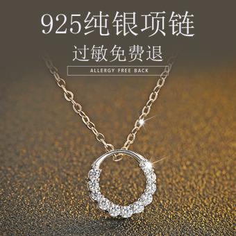 Mak female s925 sterling silver sea the same paragraph blue pendant
