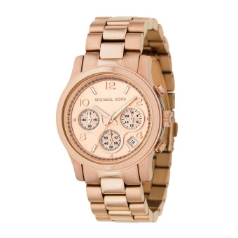 Michael Kors Women's Rose Gold Stainless Steel Strap Watch MK5128
