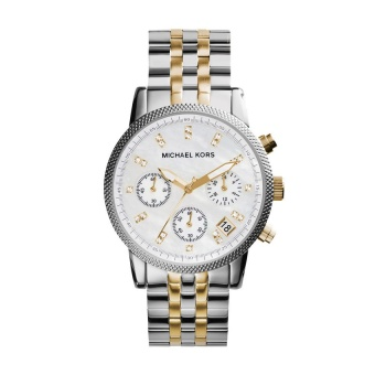 Michael Kors Women's Silver/Gold Stainless Steel Strap Watch MK5057