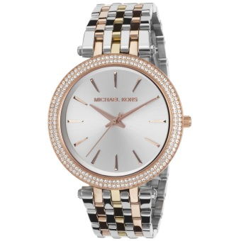 Michael Kors Women's Silver/Rose Gold Stainless Steel Strap Watch MKORS-MK3203