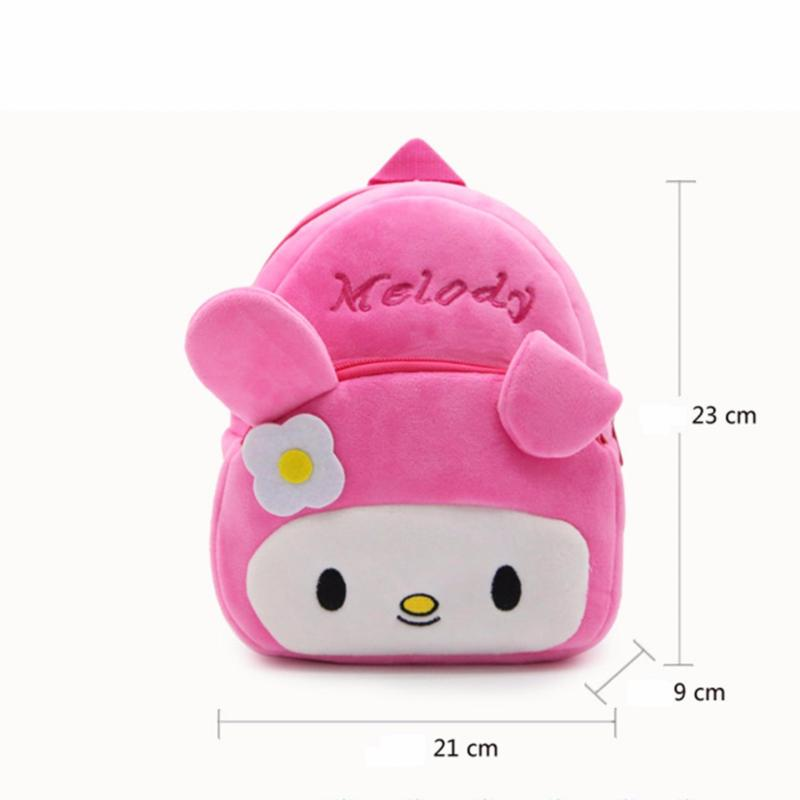 Mimosifolia Kindergarten Plush Boys and girls Childrens school bags Cartoon animation Kids Backpacks - intl