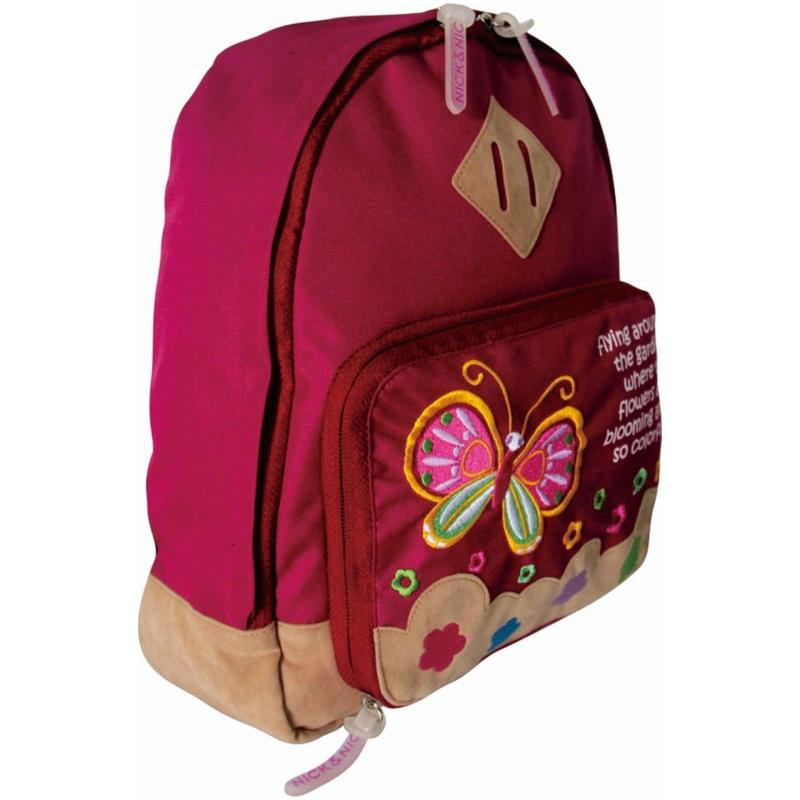 Nick & Nic Foldable Backpack Butterfly (Magenta)